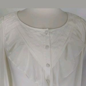 Anthropologie Maeve Blouse Size 2 Pleated Ruffles